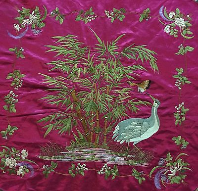 Antique Chinese Hand Embroidery Scenery,Banner,Wall Hanging Qing Dynasty