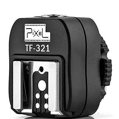 Pixel e-TTL Flash Hot Shoe Adapter with Extra PC Sync Port for Canon DSLRs and
