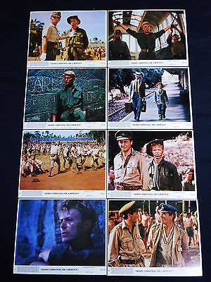 MERRY CHRISTMAS MR. LAWRENCE original 1983 color lobby photo set DAVID BOWIE