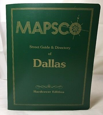 1994 Plastic Hardcover Dallas Mapsco with Street Index & Directory! Vintage Map