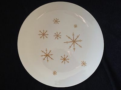 "2 GOLD Star Glow Royal Ironstone Dinner Plates 10"" CHRISTMAS VINTAGE ATOMIC"