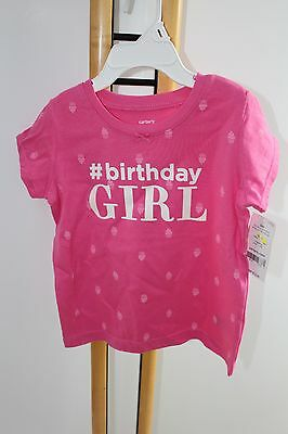 Carter's Carters Girls Size 24 Months # Happy Birthday NWT NEW Shirt Top