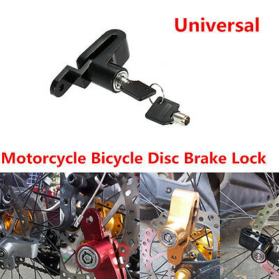 New Motorcycle Bicycle Anti-theft Security Brake Disc Wheel Rotor Lock & 2 Keys