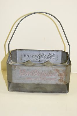 Very Rare Dr.Pepper 6 Pack Galvanized Carrier 1940's