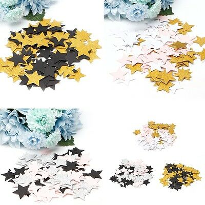 100Pcs Glitter Five Stars Paper Table Throwing Confetti Wedding Party Decoration