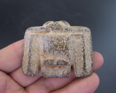 Old Chinese HongShan culture jade/stone Hand-carved bird pendant Y774