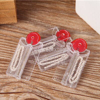 Hot 2pcs Flints and Cotton Core Replacement in Dispenser for Lighter US