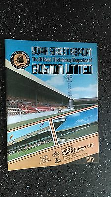 Boston United V North Ferriby United 1981-82