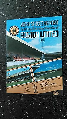 Boston United V Sutton Town 1981-82.