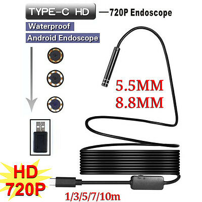 5.5mm / 8mm USB / TYPE-C Endoscope Borescope Inspection Camera Scope For Android