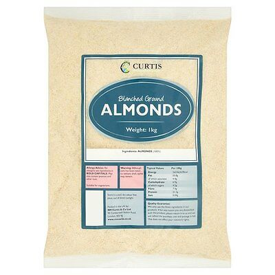 Curtis Blanched Ground Almonds 1kg Suitable for vegetarians