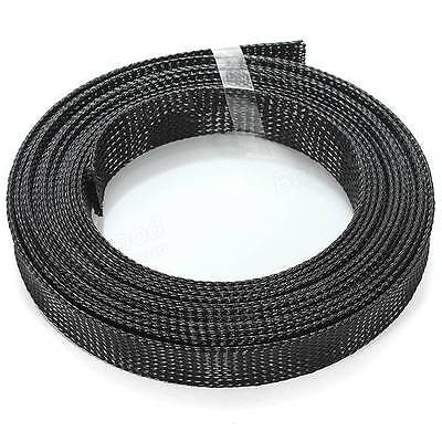 Braided Cable Wire Sleeving High Density 1m-LENGTHS 20mm-25mm Expandable PET