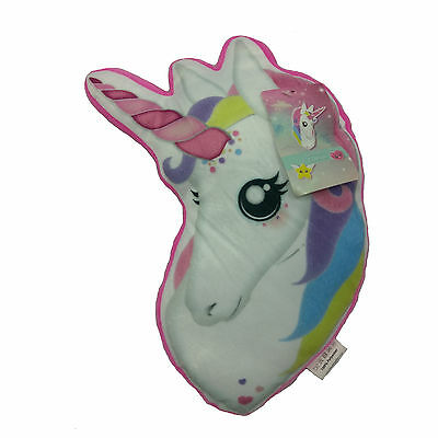 Unicorn 3D Cushion Childrens Girls My Little Pony Pink Plush Scatter Pillow