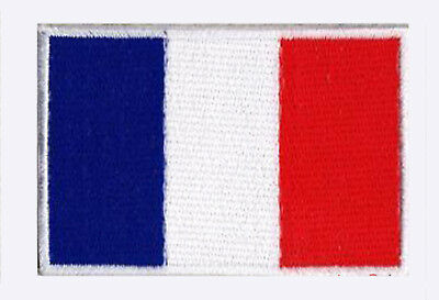 Écusson patche patch drapeau France Français 70 x 45 mm brodé à coudre