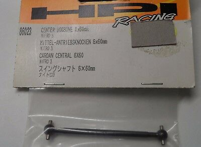 New HPI Centre Dogbone Drive Shaft 6x60mm For 'Nitro 3' 86023