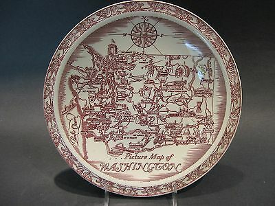 Vintage Vernon Kilns California Art Pottery Washington Souvenir Collector Plate