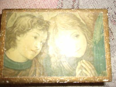 """cute wooden box, vintage, 6""""x4"""", and 2"""" deep"""