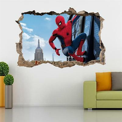 Spider Man Homecoming Smashed Wall Sticker Decal Home Art Mural Marvel J338