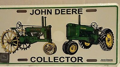 """John Deere Collectors Tractor New 12"""" X 6"""" Metal License Plate Tag Licensed"""