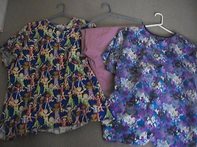 Plus Ladies Scrub Lot Of 3:    Size 2X...1 Uniform Pants & 2 Tops