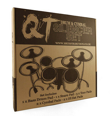 QT Silencer Pads, Boxed Set, 22 Inch Rock (NEW)