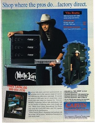 1991 Carvin Amplifiers Amps Speakers Vito Bratta White Lion Magazine Ad
