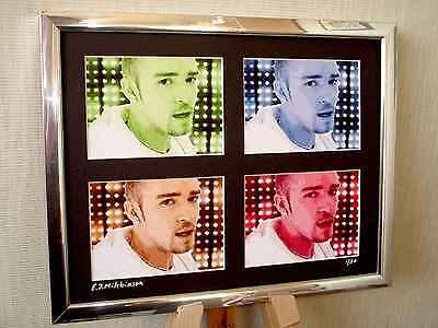 Justin Timberlake Ltd Edition Signed Pop Art Canvas