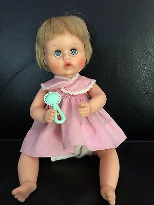 Teenie Weenie Tiny Tears Doll with extra clothes and hangars