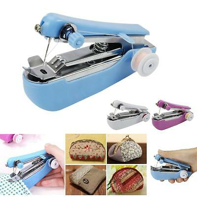 New Mini Multifunction Home Travel Portable Cordless Hand-held Sewing Machine #M