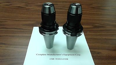 "2 CAT40 Ball Bearing Keyless Drill Chucks 3/8"" Integral design #DCK-CAT40-38"