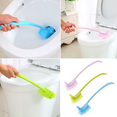 Plastic Long Handle Toilet Bowl Scrub Double Side Bathroom Cleaning Brush