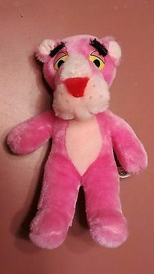 """Vintage 1980 Pink Panther~11"""" Mighty Star~Plush Stuffed Animal Toy"""