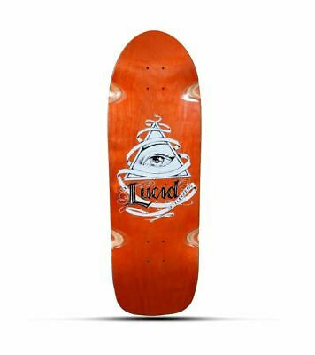 SKATEBOARD, LUCID OLD SCHOOL BOARD ORANGE DECK 31 x 10