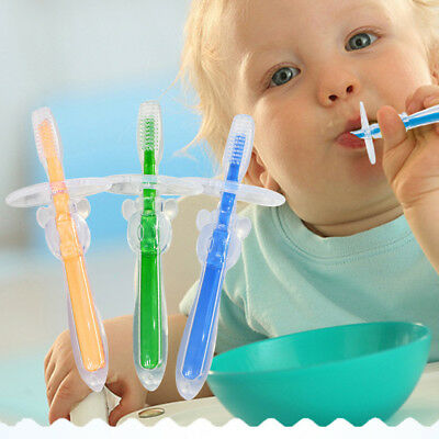 Toddler Kid Teeth Care Safety Food-grade Silicone Toothbrush Soft Massager Brush