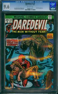 Daredevil # 114  The Man-Thing Stalks the Swamp !  CGC 9.6  scarce book !