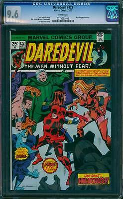 Daredevil # 123  A Final Climactic Battle  !  CGC 9.6  scarce book !