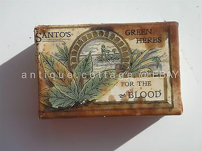1906 antique UNUSED SANTOS herb QUACK MED homeopathic FOR THE BLOOD rochester ny