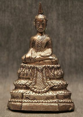 Antique and Very Early Signed Thai Silver Buddha
