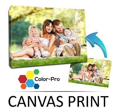"Custom A4 LARGE 6"" x 12"" CANVAS Print, Your PHOTO/PICTURE Frame Personalised"