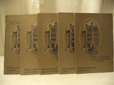 Early WOMAN'S INSTITUTE OF DOMESTIC ARTS Sciences Scranton PA lot of 5 booklets