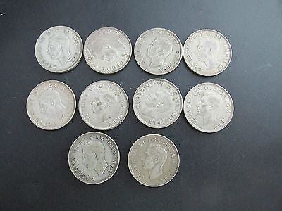 COINS GEORGIS - Shillings - Half Crowns