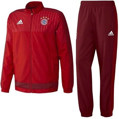Adidas FC Bayern Pres Men's Track Suit FC Bayern red jogging sports suit NEW
