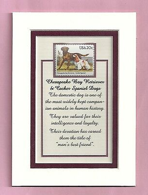2099 -  Dogs  Stamp- Ready-to-be-framed Gift