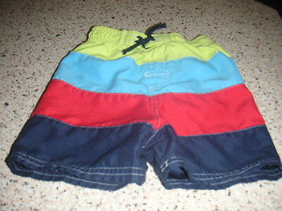 Baby Boys F&f Swimming Shorts Age 12-18 Months Guc