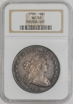 1799 Draped Bust Dollar $ AU58 NGC