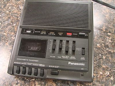 Panasonic RR-930 MicroCassette Transcriber Recorder Dictation Machine (No Pedal)