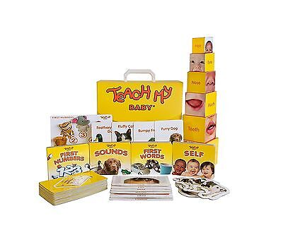 Teach My Baby Learning Kit First Words Numbers Sounds Touch 52 Pieces