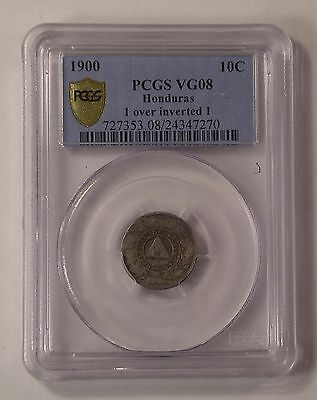 1900 Honduras 1 over inverted 1 10 centavos PCGS VG 8 RARE coin