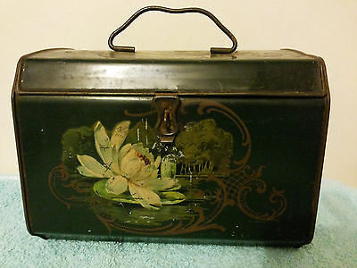 Vintage Biscuit/toffee/sweet Tin.  Chest/casket Shape