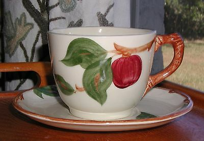 "Franciscan Apple China Usa 2 3/4"" Cup & Saucer (S)"